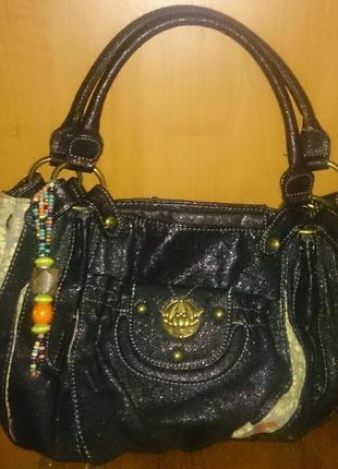 Стильна чорна сумочка nica