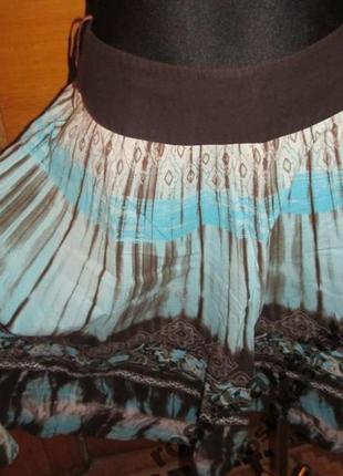 Легка голуба літня спідничка р38