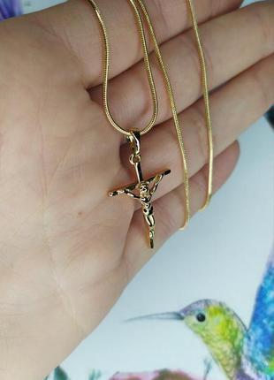 Набор из медицинского золота, цепочка и крестик