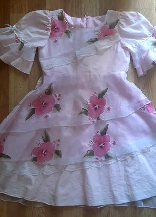 Платье нарядное на 7-8 лет