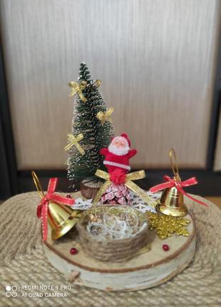 Підсвічник новий рік декор прикраса ялинка новий год украшение