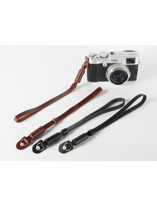 Ремень для фотоаппарата кожаный браслет на запястье классический