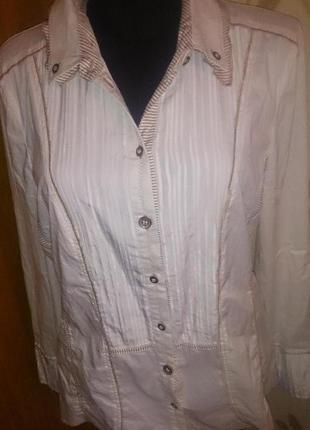 Стильна біла блуза р40 bonita