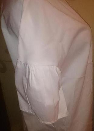 Стильна біла блуза м нова бірки piazza italia