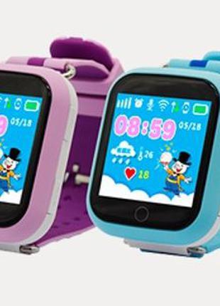 Smart часы детские с GPS Q90 (розовый и синий)