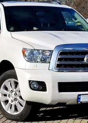 381 Toyota Sequoia аренда белый джип на свадьбу