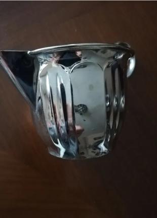 Сливочник металлический внутри покрыт золотом винтаж Германия