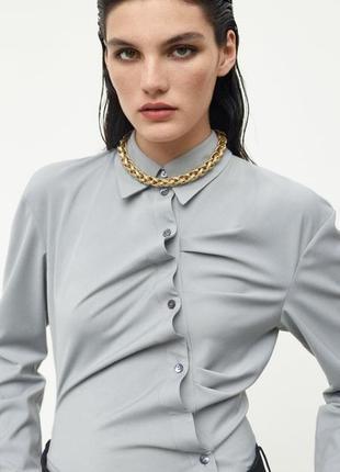 Zara limited edition рубашка со зборками