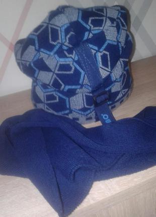 Шапка на флисе , шарф , комплект