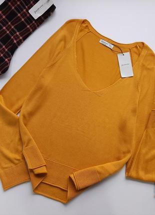 Кофта пуловер гарбузового кольору stradivarius