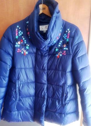 Красивая стеганая  куртка осень/весна minishidun