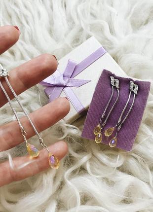 Набор с кристаллами swarovski в подарочной упаковке