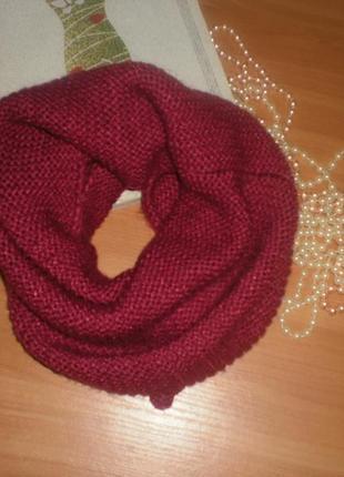 Класний вязаний хомут (снуд, шарф).