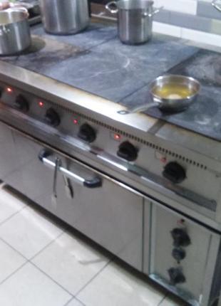 Плита электрическая 6-ти комфорочная с духовкой,  Украина