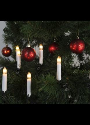 Новорічна гирлянда свічка 10 led голандія