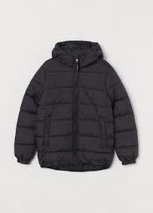10-11/11-12/13-14 лет h&m новый фирменный пуховик куртка с кап...
