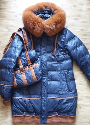 Пуховик 3 в одном: куртка, жилет, сумка