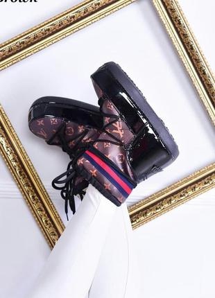 Луноходы женские угги ботинки зимние