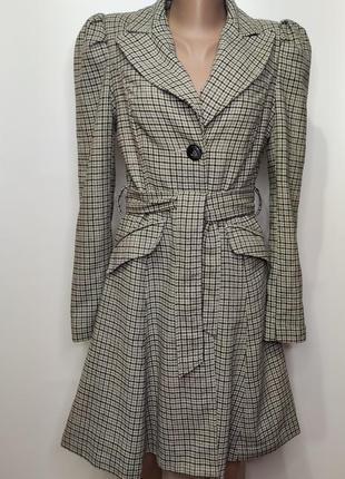 New look серое демисезонное пальто