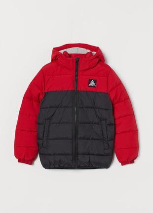 11-12/12-13/13-14 лет h&m новый фирменный пуховик куртка с кап...