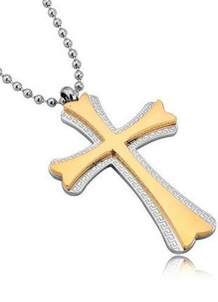 Мужская подвеска крестик и цепочка