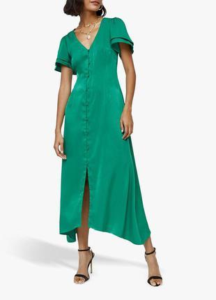 Роскошное сатиновое платье с пуговицами warehouse