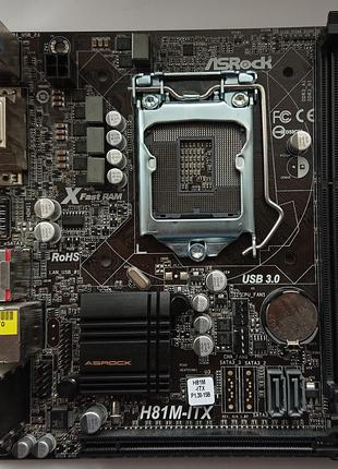 Материнская плата ASRock H81M-ITX LGA1150 s1150 MiniITX