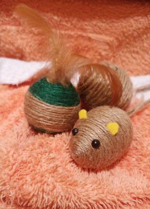 Игрушки для кошек ручной работы
