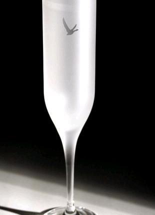 Уникальные бокалы для шампанского(матовые) коллекция Grey Goose