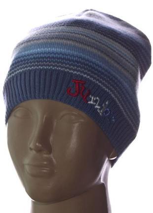 Демисезонная шапка для мальчика