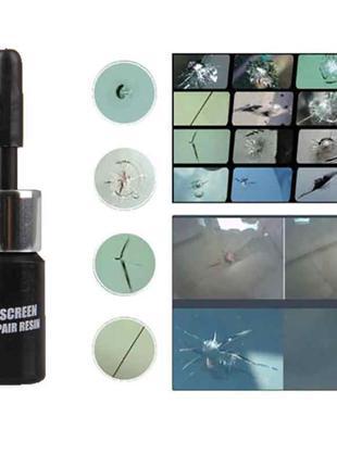 Клей полимер для ремонта лобового стекла трещины сколы (авто стек
