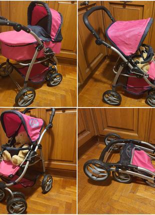 Игрушечная коляска-трансформер 2-в-1 для кукол Мелого Melogo 9662