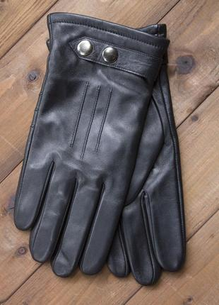 Мужские зимние кожаные перчатки