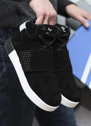 Мужские зимние кроссовки adidas tubular invader