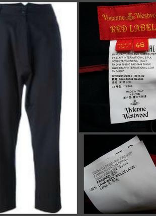 Шерстяный брюки vivienne westwood red label