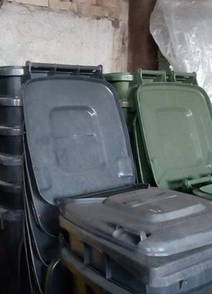 Б/У бак для мусора 120 240 л ТБО контейнер евроконтейнер, мусо...