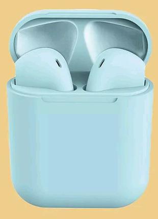 Беспроводные наушники i12s tws blue