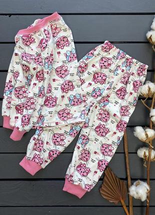 Пижама детская костюм тёплый махра кофта штаны