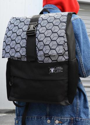 Рюкзак пилигрим черный куб