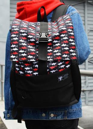 Рюкзак пилигрим черный акула