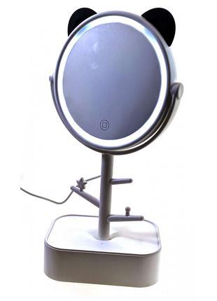 Зеркало настольное с LED подсветкой (32х14х17 см)