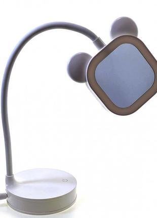 Зеркало настольное с LED подсветкой на аккумуляторе белое