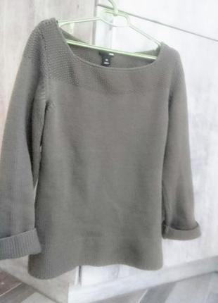 Качественный теплый свитер h&m. m