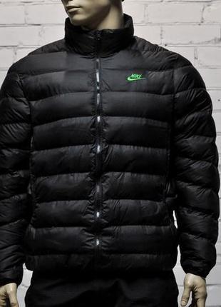 Куртка зима nike чёрная