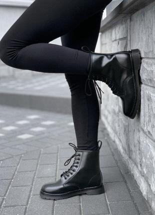 ❄️dr. martens 1460 mono black mex pir распродажа ботинки налож...