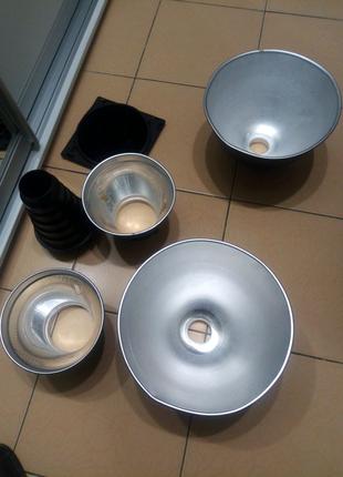 Модификаторы, рефлекторы света для студийных вспышек и не только