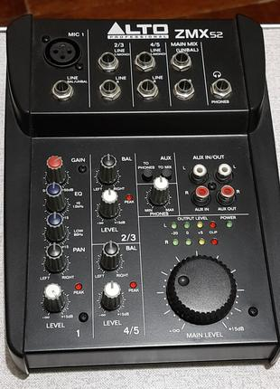 Mixer ALTO ZMX52 Zephyr series Микшер Микшерный пульт