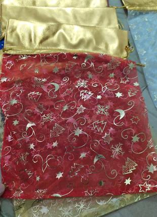 Упаковка для Новогоднего подарка, конфет из ткани, размер 23 х...