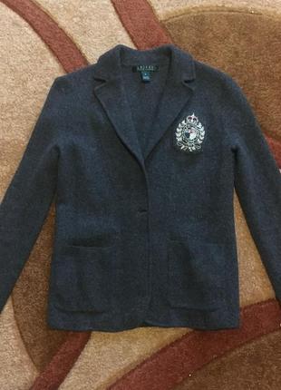 Жакет пиджак кардиган 100% шерсть зима/осень