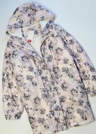 Модная нежная парка с утеплителем в цветах куртка